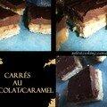 Carrés au chocolat et caramel