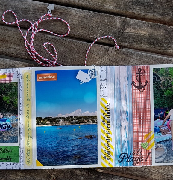 Mini-album scrap simple et rapide Coclem La vie en scrap 06 2