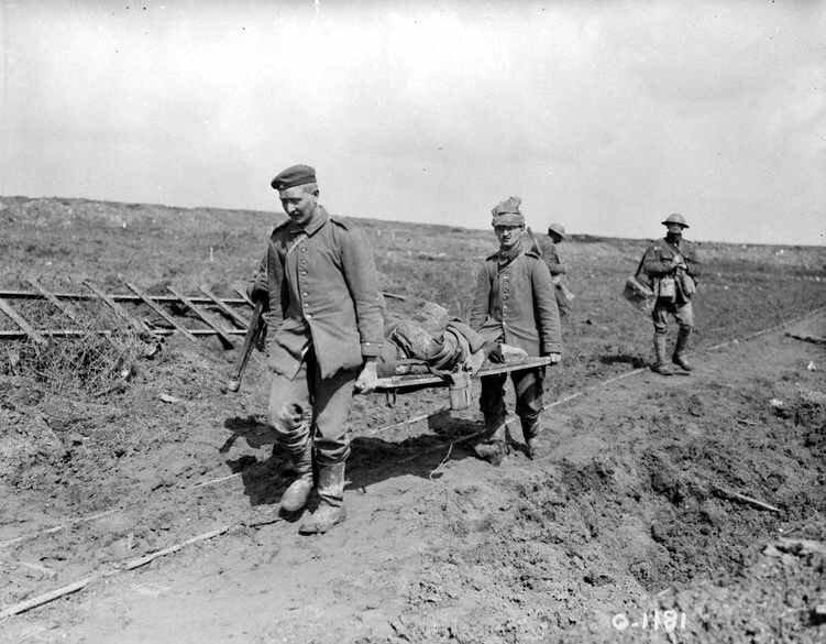 Vimy transport des blessés avr 1918