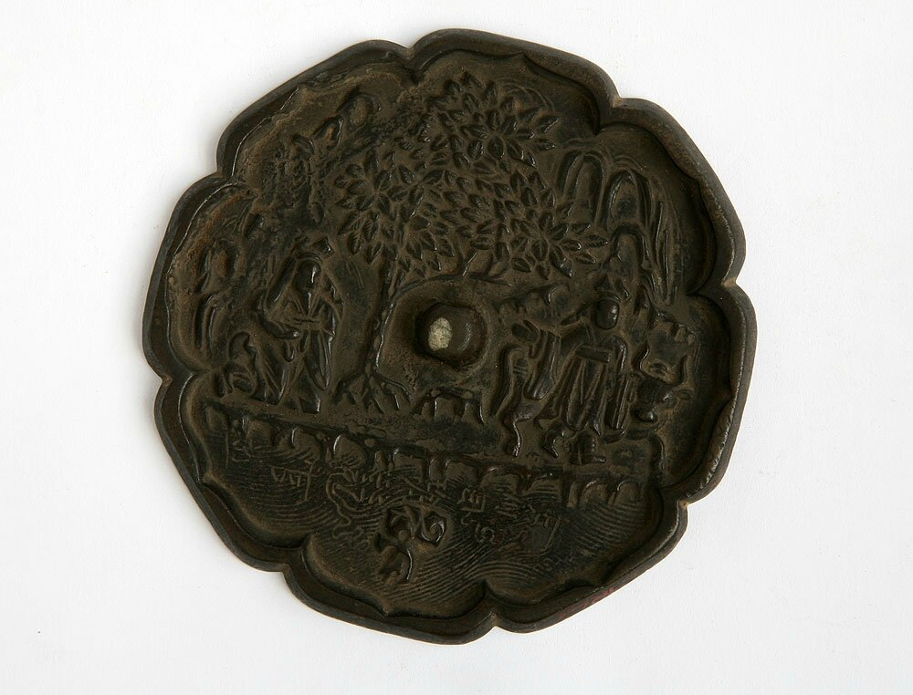Bronze Mirror with Design of Xuyou and Chaofu Story, Song Dynasty
