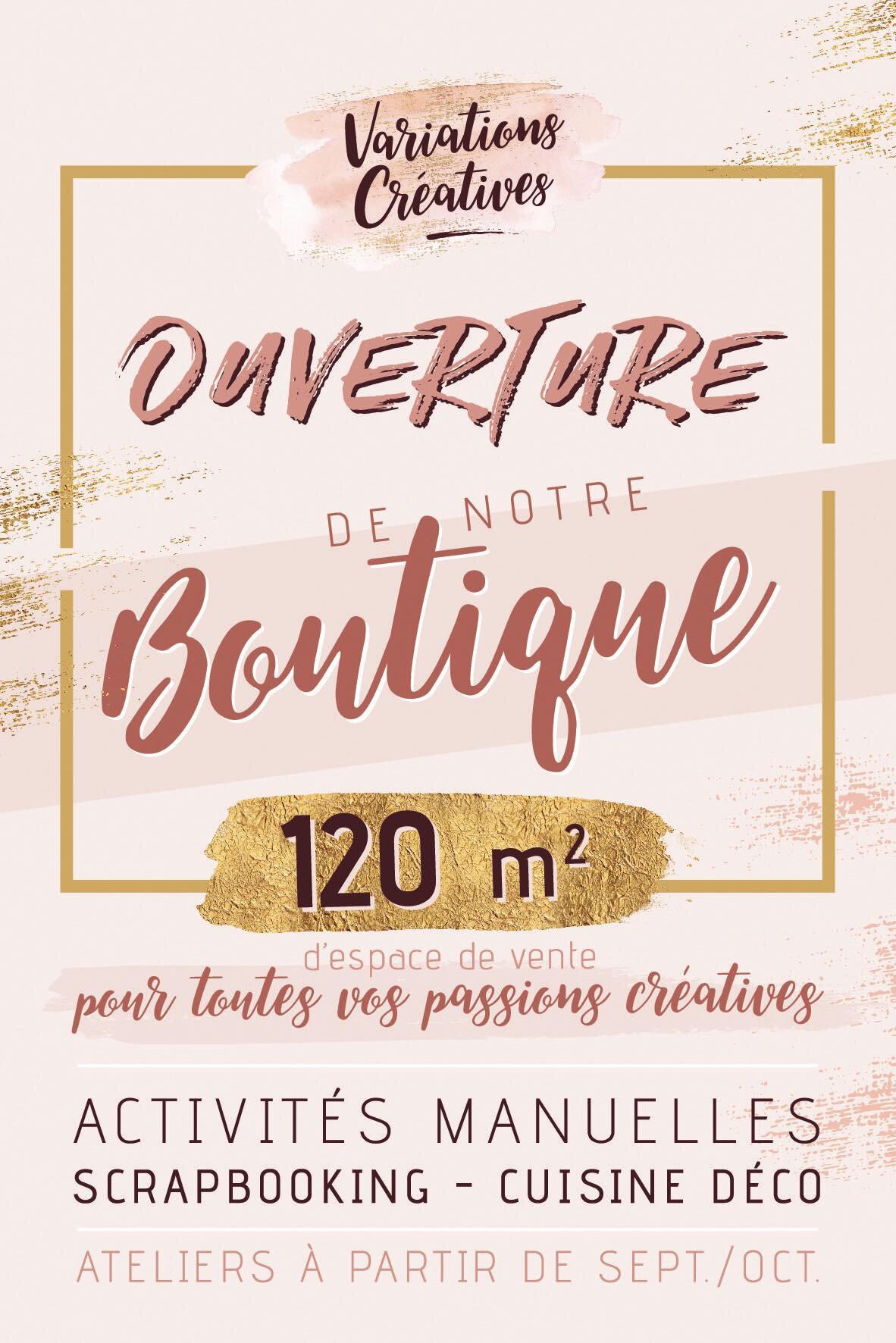 OUVERTURE DE NOTRE BOUTIQUE 🎉🎉🎉