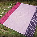 Rideau pour chambre fillette rose et violet