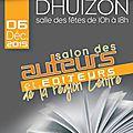 Salon du livre dhuizon (41) / dimanche 6 décembre 2015