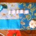 pochette de couturière turquoise