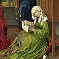 1435-1445 (ca) ROGIER VAN DER WEYDEN : Ste Madeleine - détail d'une Vierge à l Enfant