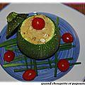 Courgette ronde farcie aux cereales saveurs alsacienne