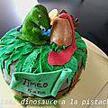 Gâteau dinosaure a la pistache