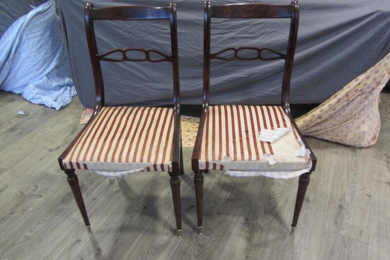paire de chaises à retapisser