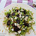 Salade de betterave à la mozarella pour le défi recettes autour d'un ingrédient 18ème édition