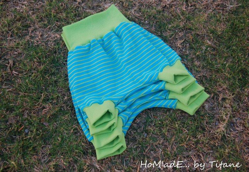 sarouel'short turquoise-anis 001