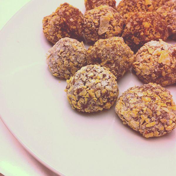 truffes croustillantes chocolat