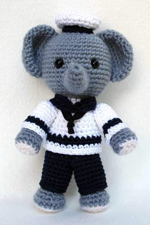 tuto amigurumi l 39 l phant marin tout sur le crochet et les amigurumis. Black Bedroom Furniture Sets. Home Design Ideas
