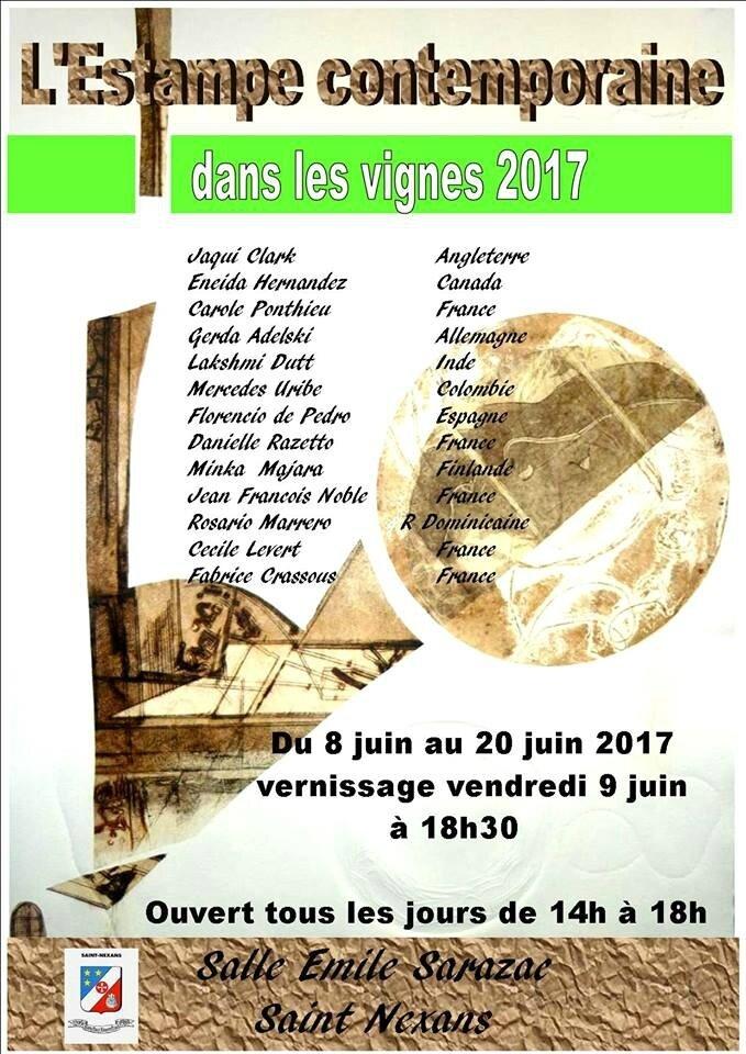 L'ESTAMPE CONTEMPORAINE dans les vignes 2017 - Du 8 juin au 20 juin 2017