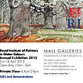 Exposition à londres - royal institute of painters in water colours (ri) - exhibition in london