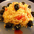 salade composées avec ses olives