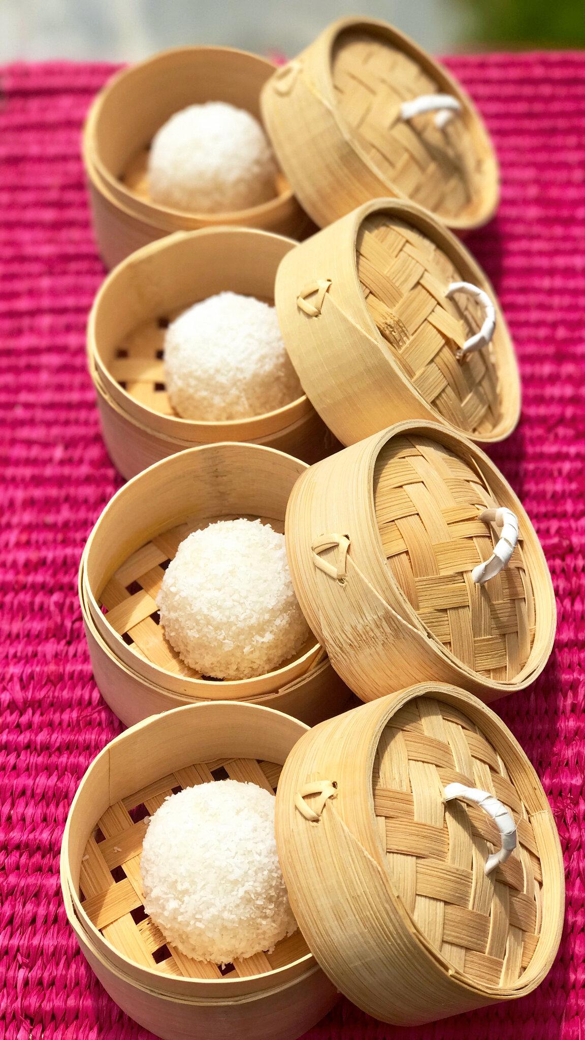 Les Bouchées pour l'Aqua-Poney (Boules-Coco aux fruits)