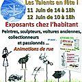 Mon expo des 11 et 12 juin
