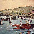 Manet, les courses au bois de boulogne