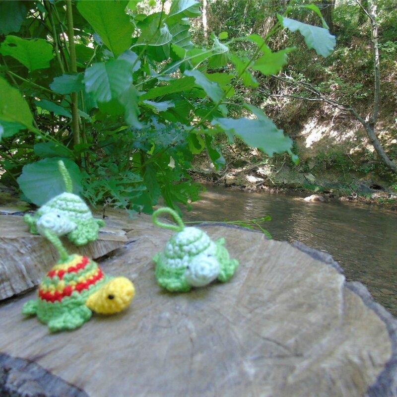 mini-tortue-crochet-au bord de leau