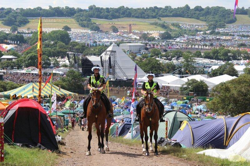 Glastonbury festival 2014 police horse