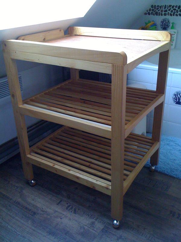 Fabriquer meuble a langer - Table a langer qui se pose sur la baignoire ...