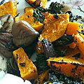 Fondue butternut-kale-châtaignes