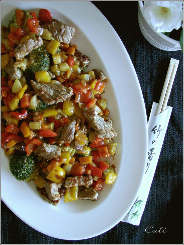 Wok de Boeuf & Légumes Croquants 001