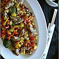 Wok de boeuf & legumes croquants