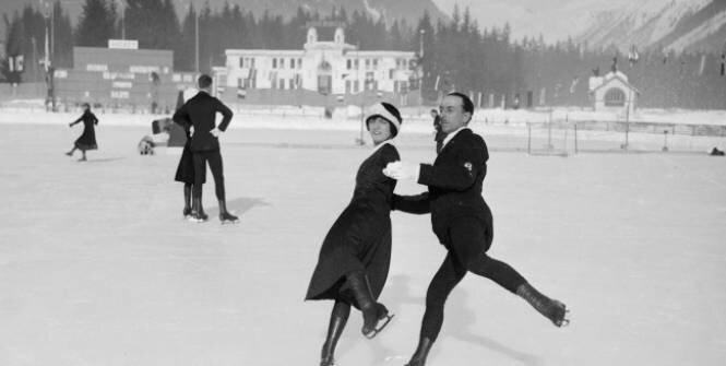 JO 1924 Chamonix Pierre Brunet & Andrée Joly