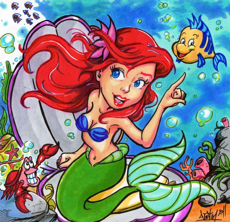 Ariel la petite sir ne s bastien le crabe polochon little mermaid fanart disney photo de - Ariel petite sirene ...