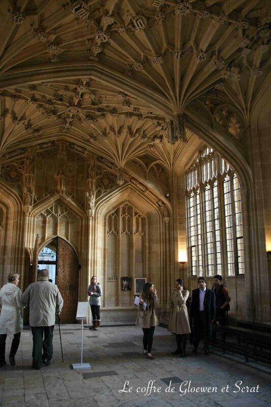 Bodleian Library Oxford, le coin de l'infirmerie dans Harry Potter