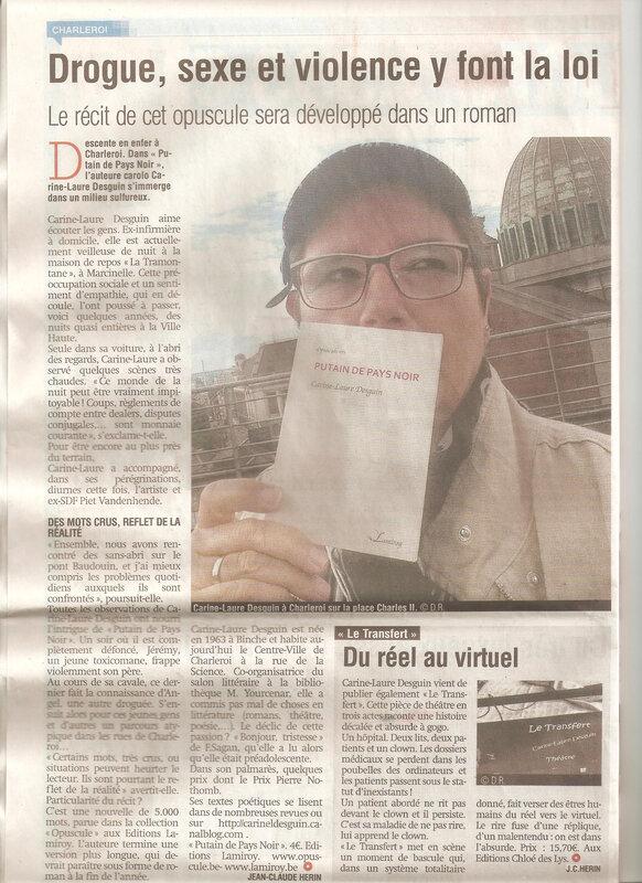 Putain de Pays Noir, on en parle dans la Nouvelle Gazette de Charleroi du mercredi 3 juillet 2019