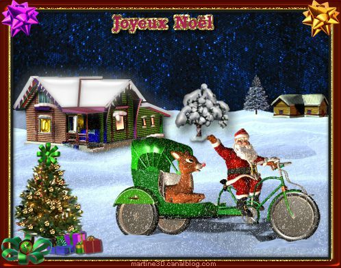 011-carte-joyeux-noel-papa-noel-rudolph-renne
