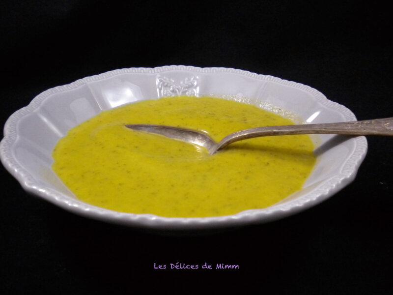 Soupe de courgettes toute simple 2
