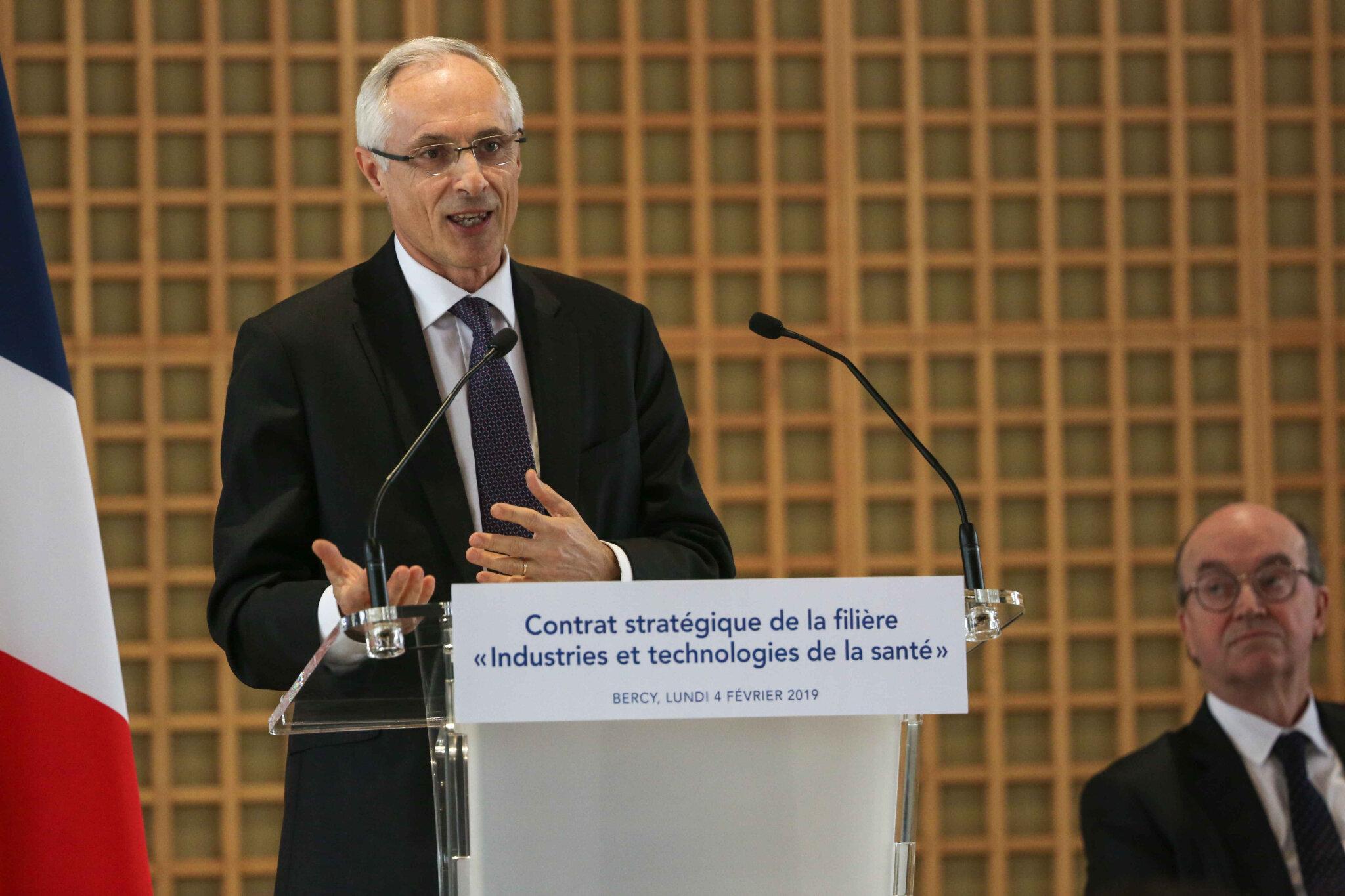 Signature du Contrat stratégique « Industries et Technologies de Santé ». © Michel Stoupak. Lun 04.02.2019, 15h11m32.