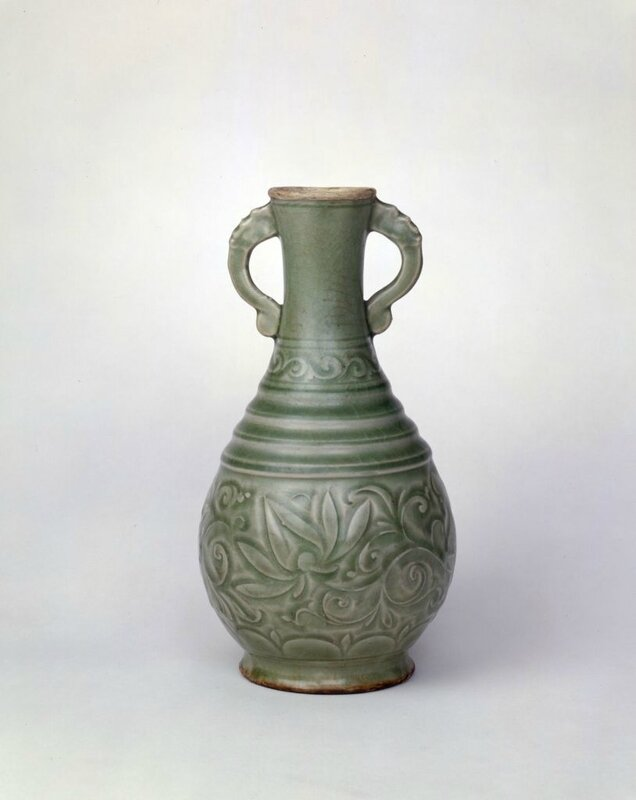A Yaozhou carved 'Lotus' amphora, Song dynasty, high 24