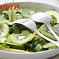 Salade d' endives et kiwis .