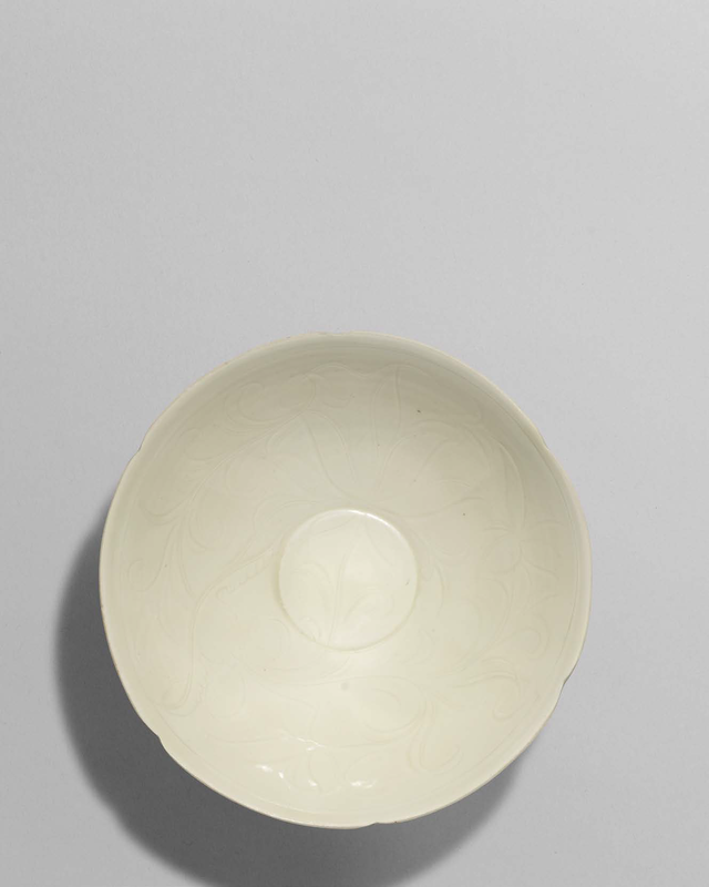 A Ding white-glazed incised foliate bowl, Northern Song dynasty (960-1127)