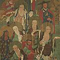 Arhats, chine, dynastie qing, ca 17°-18° siècle