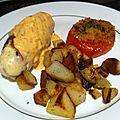 Ballotines de poulet chorizo, tomates confites, mozzarella