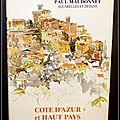 Côte d'azur et haut pays, aquarelles et dessins - paul maudonnet