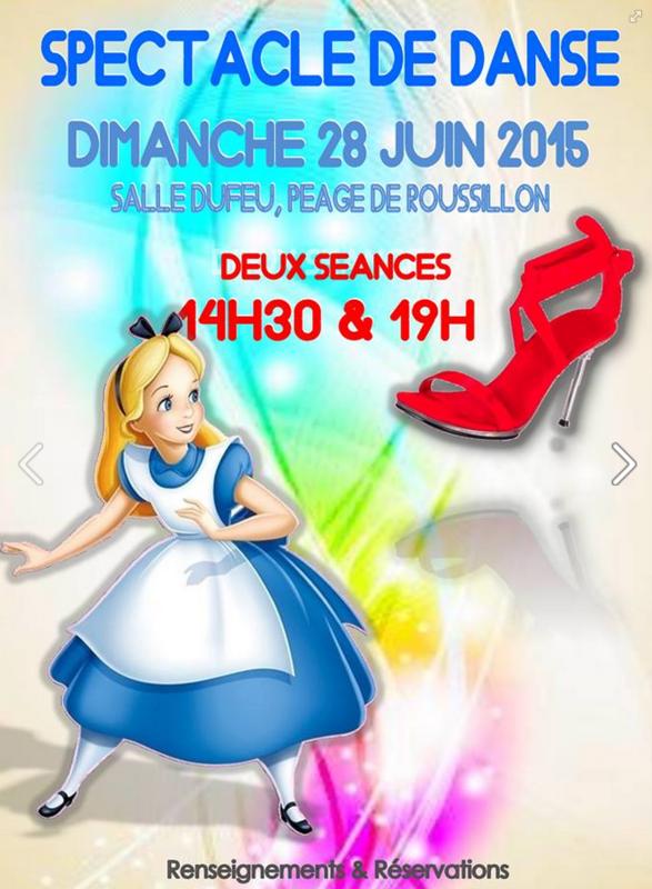 SPECTACLE DE DANSE - CENTRE DE DANSE CHRISTOPHE JEANMOUGIN - VIENNE (ISERE) - AFFICHE