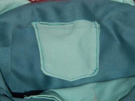 couture sac jean's petite poche interieure