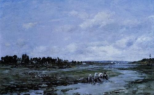 French-Impressionist-Painter-Eugene-Boudin-Le-Faou-Laundres