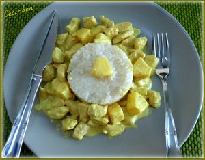 Poulet ananas sauce coco