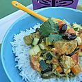 Variation autour du curry: goyavier, poulet, coco