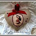 coeur Noel vintage