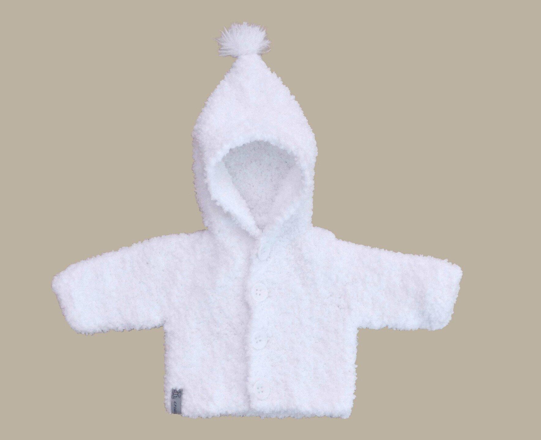 le dernier b7284 4c70c Un manteau à capuche pointue pour bébé - creazabelle tricot