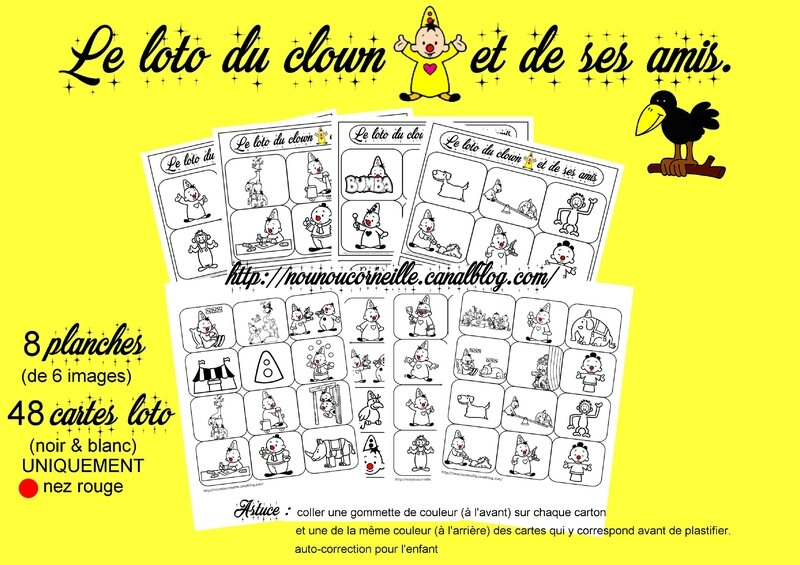 Preview loto du clown BUMBA
