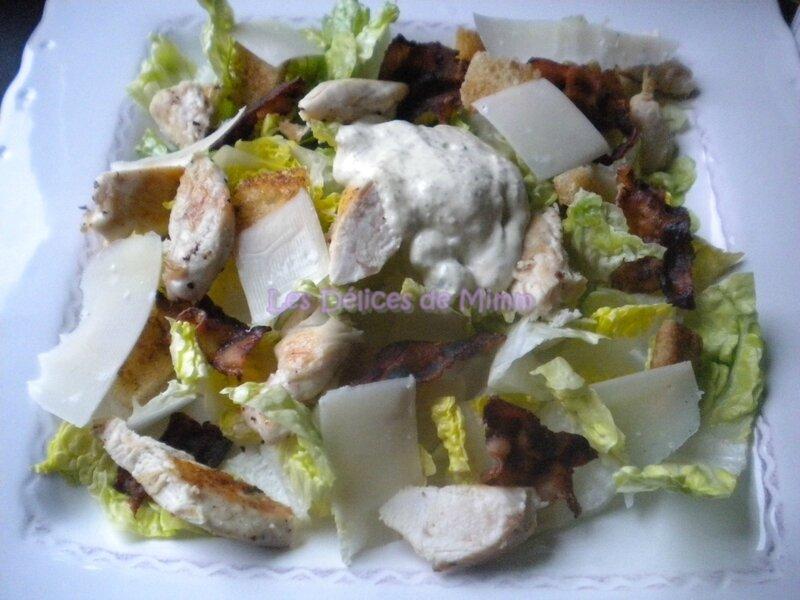 Salade César et sa sauce vinaigrette 2